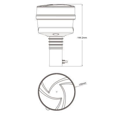 LED Beacon,Pipe mount  Z-W16P