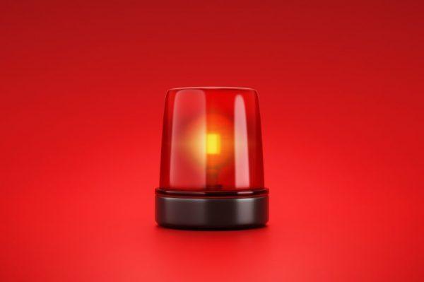 red beacon strobe light